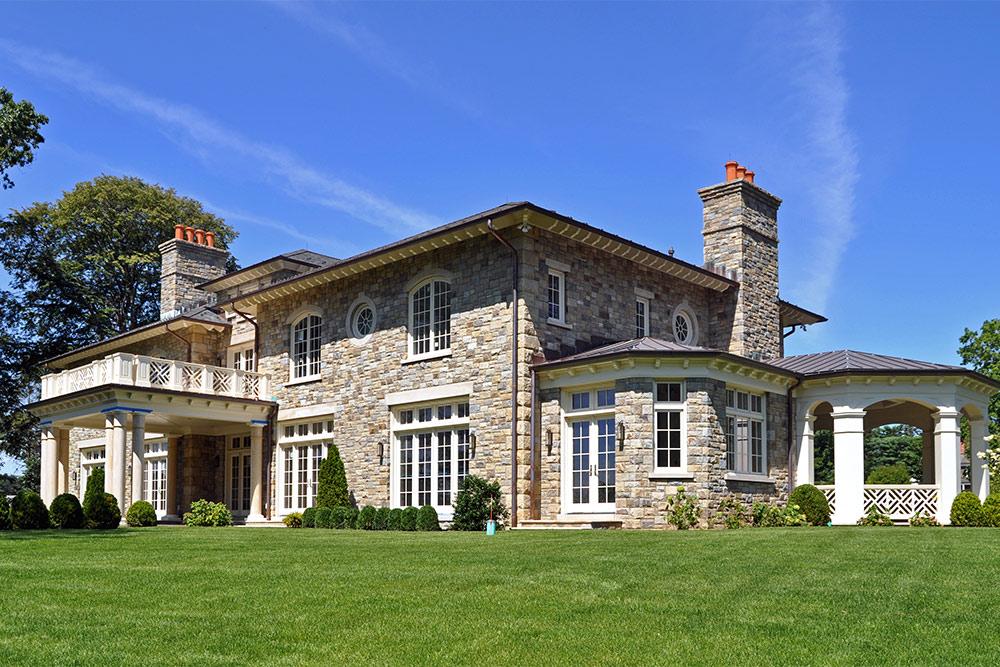 beautiful stone house
